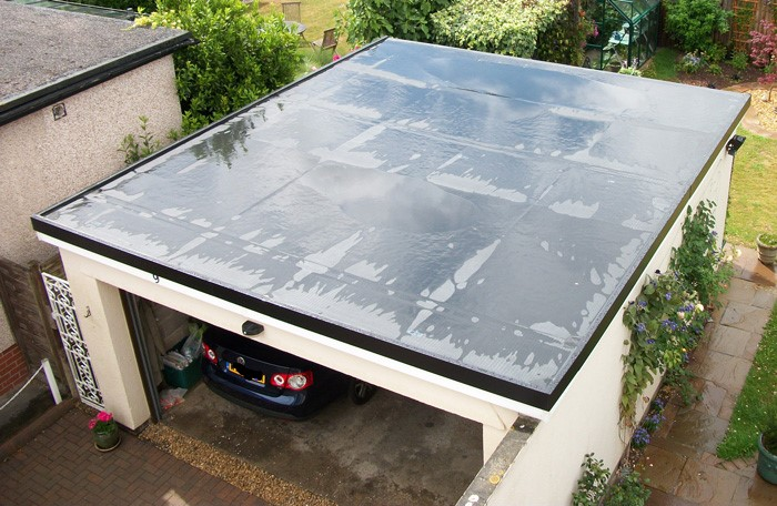 new flat garage rubber roof in dunnikier estate kirkcaldy
